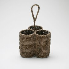 Baskets Seagrass Three-Part Caddy