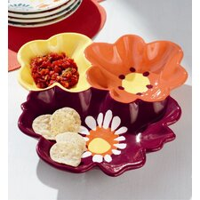 Wildflowers Chip and Dip Tray