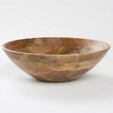 "Malaya Wooden 13.75"" Serving Bowl"
