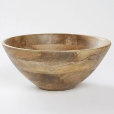"Malaya Deep Wooden 13.25"" Serving Bowl"
