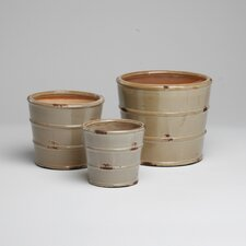 Terracotta Glazed Planter (Set of 3)