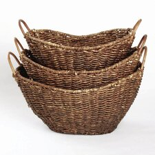 Autumn Corn Husk Basket (Set of 3)