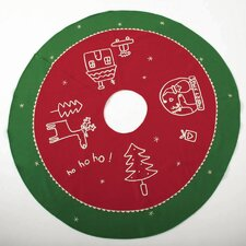 Whimsy Magic of Xmas Felt Tree Skirt
