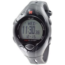 <strong>Red Clover</strong> Trainer 100 Lap Watch in Black / Black