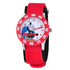 <strong>Thomas and Friends</strong> Kid's Stainless Steel Time Teacher Watch