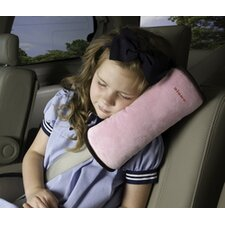 Seatbelt Pillow in Pink / Brown