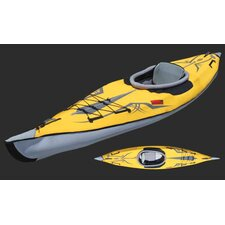 Advancedframe Expedition Inflatable Kayak in Yellow and Gray