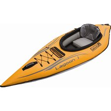 Lagoon1 One Seat Kayak in Orange and Gray