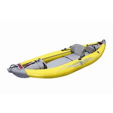 Straitedge Inflatable Kayak in Yellow and Gray