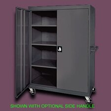 "<strong>Sandusky Cabinets</strong> Transport Four Shelf Extra Large Mobile Storage - 65"" x 46"" x 24"""