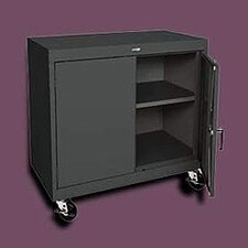 "<strong>Sandusky Cabinets</strong> Transport Two-Door Work Height Storage - 48"" x 46"" x 24"""