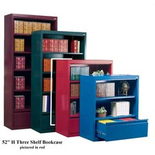 "52"" H Three Shelf Bookcase with File Drawer"