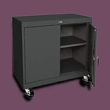 "Transport Wide Single Shelf Work Height Storage - 36"" x 36"" x 24"""
