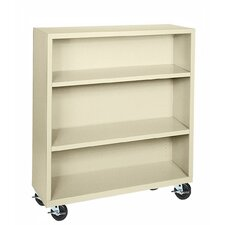 "<strong>Sandusky Cabinets</strong> 48"" H Three Shelf Mobile Bookcase"