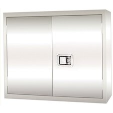 Stainless Steel Wall Cabinet with Paddle Lock, 30x12x30