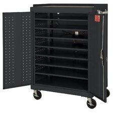 16-Compartment Mobile Laptop Security Cabinet