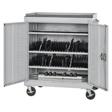 40-Compartment Mobile Tablet Storage Cart