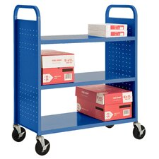 <strong>Sandusky Cabinets</strong> Flat Shelf Mobile Booktruck