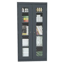 "36"" See Thru Series Stationary Storage Cabinet"
