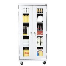 <strong>Sandusky Cabinets</strong> Transport Mobile Clear View Cabinet