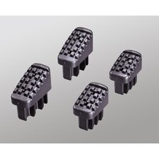 4 Piece Plastic Feet Set in Black