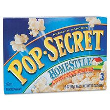 <strong>Diamond Foods, Inc.</strong> Pop Secret Microwave Popcorn, Homestyl, 3 Bags/Box