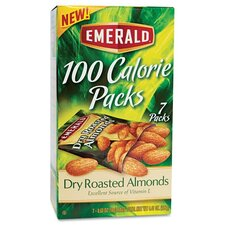 Emerald 100 Calorie Pack Dry Roasted Almonds, 7 Packs/Box