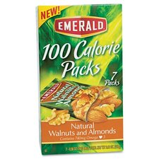 Emerald 100 Calorie Pack Walnuts and Almonds, 7 Packs/Box