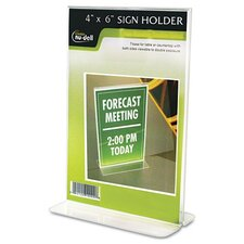 Clear Plastic Sign Holder, Free-Standing