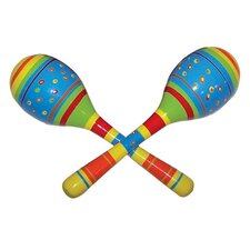 <strong>Sassafras</strong> Kid's Striped Maracas