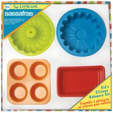 <strong>Sassafras</strong> The Little Cook Silicone Bakeware (Set of 4)