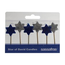 Star of David Holiday Party Candle