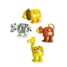 Clip-Itty-Doo-Dahs Wind Up Safari Animals Display