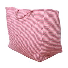 Storage Bag in Pink Candy Stripe