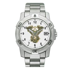 Chrome Biker Watch with V-Twin Emboss