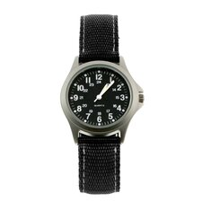 Rugged Military Field Watch with Black Face