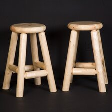 <strong>Northwoods Billiards</strong> Log Pub Stool