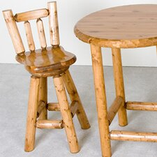 <strong>Northwoods Billiards</strong> Log Swivel Bar Stool
