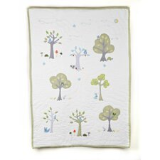 Nightowl Tree Applique Crib Quilt