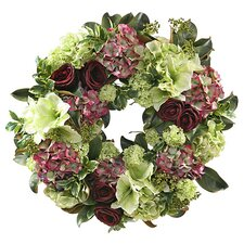 Amaryllis / Rose Wreath