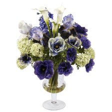 Glass Vase with Garden Flowers