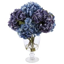 Glass Vase with Hydrangea