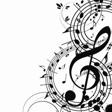 "8"" Musical Notes Canvas Art"