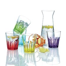 Crazy Colours 7 Piece Drink Glass Set