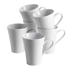 <strong>Domestic by Maser</strong> Perfetto Porcelain Coffee Mug Set (Set of 6)