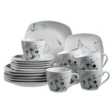 Chanson 18 Piece Porcelain Coffee Set