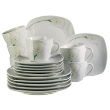 Calla 18 Piece Porcelain Coffee Set