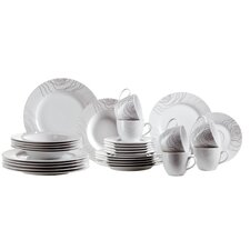 Elisso 30 Piece Porcelain Dinnerware Set