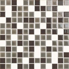 """New Blendz 1"""" x 1"""" Glass Gloss Mosaic Tile in Vanilla Bean"""