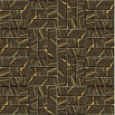 "Metalz Bronze 12"" x 12"" Recycled Glass Mosaic in Bronze"